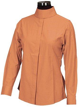 TuffRider Girl's Elegance Long Sleeve Show Shirt, White, - Elegance Shirt Long Show Sleeve