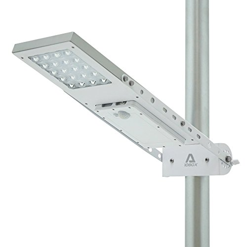 ALPHA 1080X Street Light , 3-Mode Setting, Lithium Battery, Adjustable Mounting Bracket for Optimum Sunlight Exposure, Fit Max Pole Diameter 3'