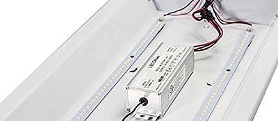 LED 2' X 4' Fluorescent Retrofit Kit, 2 Magnetic Mount LED Strips & 1 Magnetic Mount Driver,32 Total System Watts,5000 Kelvin