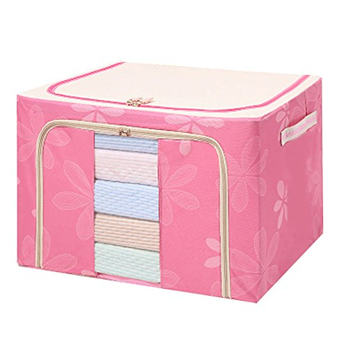 LIannan Oxford Textiles Storage Box Clothing Storage Box Steel Shelf Closet Thick Quilt Extra Large Finishing Box Storage Box Multi-color Optional Steel Frame (2 Bin Finisher)