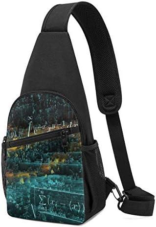 数学の方程式 斜め掛け ボディ肩掛け ショルダーバッグ ワンショルダーバッグ メンズ 多機能レジャーバックパック 軽量 大容量