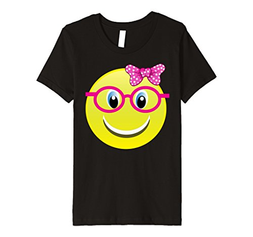 Kids Smiling Emoji Buck Teeth Girl Nerd Glasses Costume Shirt 8 - Outfits Halloween Nerd