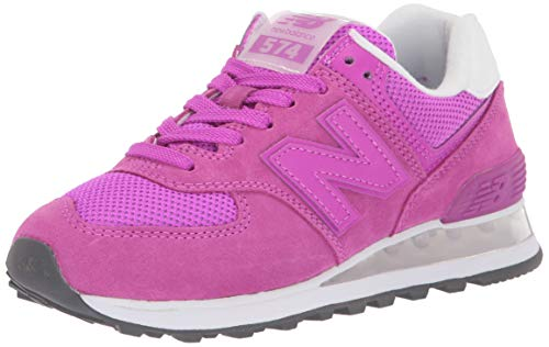 New Balance Women's Iconic 574 V2 Sneaker, Voltage Violet/White, 7.5 B US