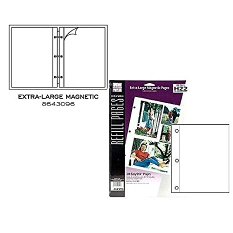 Amazon.com : XL white magnetic pages EasyStik self-adhesive 20 refill pages by Holson-Burnes (3 pack) - 8.5x11 8643096 8643096, stick pinnacle photo ...