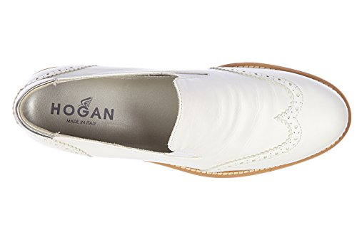 Hogan slip on donna in pelle sneakers nuove originali h259 route vintage bianco