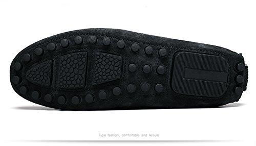 Icegrey Hombre Mocasines Zapatos Mocasín con La Borla Brogue Casual Zapatos Estilo de Conducción Negro