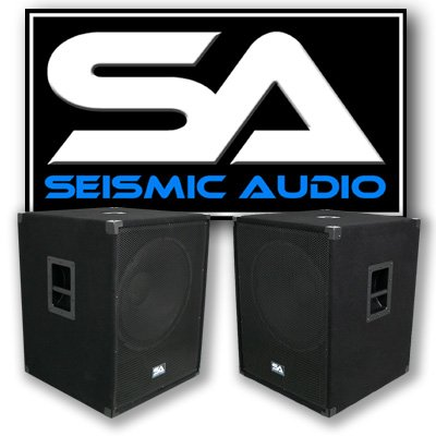 Seismic Audio - PACKAGE - Two 18 Inch PA Subwoofers PRO Audio Band Speaker Cabinets Sub - Band, Bar, Wedding, Karaoke, DJ, 18' Cabs 1000 Watts RMS