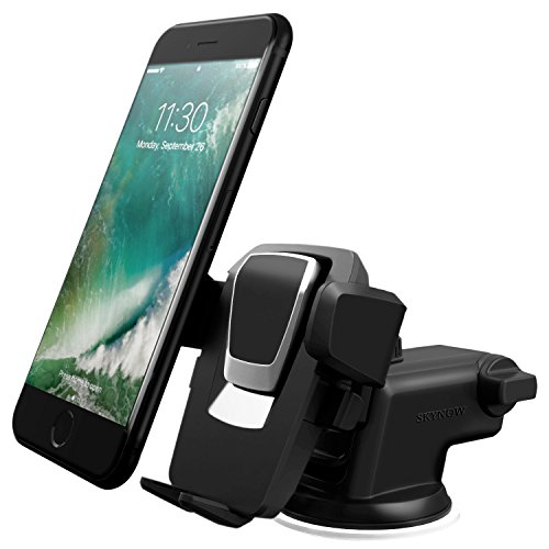 SKYNOW Car Phone Mount Holder,Universal Windshield Dashboard Truck Cellphone Holder for iPhone Xs and XS Max Green/&Magnetic