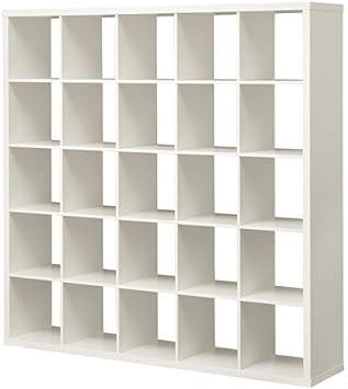 IKEA KALLAX estantería de pared blanco; (182 x 182 cm); Compatible con EXPEDIT