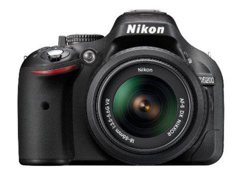 Nikon D5200 24.1MP Digital SLR Camera  Black  with AF S 18 55 mm VR II Kit Lens, Memory Card, Camera Bag Digital SLRs