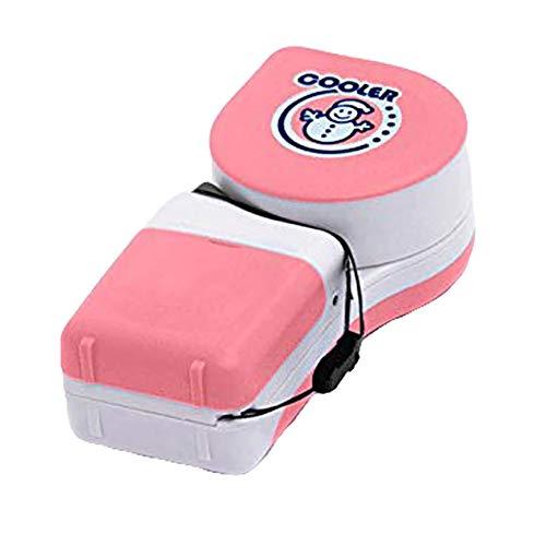 (Gyswshh Mini Snowman Adjustable Handheld No-Blade Student USB Cooler Fan Air Conditioner Pink)