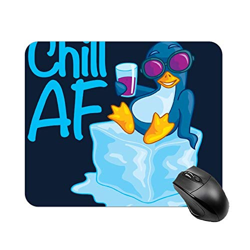 Yishour Mouse Pad Chill Af Penguin On Ice Mouse Mat, Thick Mouse Pad for Laptop, Computer, Pc, Keyboard