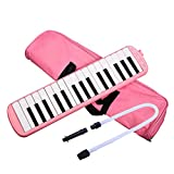 32 Piano Keys Melodica Music Education Instrument (Pink)