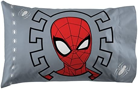 Official Marvel Product Jay Franco /& Sons Double-Sided Kids Super Soft Bedding Jay Franco Marvel Black Panther Blue Tribe1 Pack Pillowcase