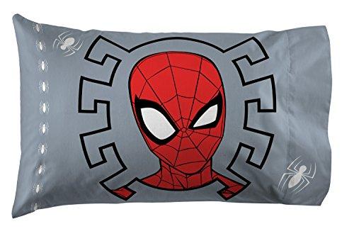 Jay Franco Marvel Spiderman Webbed Wonder 1 Pack Pillowcase - Double-Sided Kids Super Soft Bedding (Official Marvel Product) ()