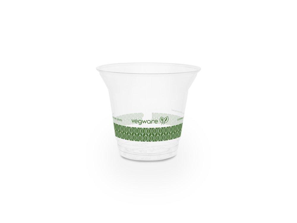 Vegware R300S-G 9oz Standard PLA Cold Cup (Case of 1000)