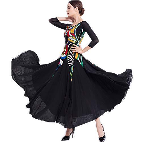 【上品】 garuda レディース社交ダンス衣装 ダンス練習競技ワンピース 上品ワルツドレス Medium 可 ブラック B07Q5G1Q48 ブラック 可 Medium, みとこんぼでぃ:c272208e --- a0267596.xsph.ru