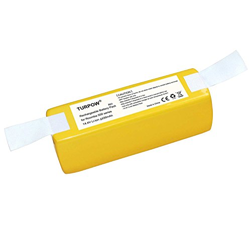 Turpow 6400mAh Li-ion Battery for iRobot Roomba R3 500 600 700 800 900 Series500 510 530 531 532 535 536 540 550 552 560 562 570 580 595 600 620 630 650 660 700 760 770 780 790 800 870 880 900 980 R3