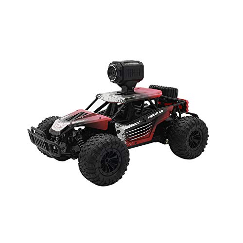 LIULIULIU✦RC Cars 1:18 Scale 4 WD Off Road 20km/H Remote Control Cars 2.4GHz Radio Remote Control Truck Monster High Speed Crawler USB Charger RC Car for Adults and Kids (Red)
