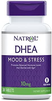 Natrol DHEA, 100% Vegetarian, 10mg Tablets, 30 Count