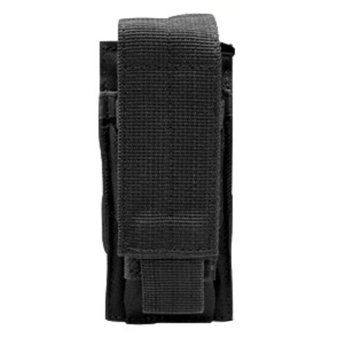 Horizontal Magazine Pouch - Condor Outdoor MOLLE Single Pistol Magazine Pouch (Black)