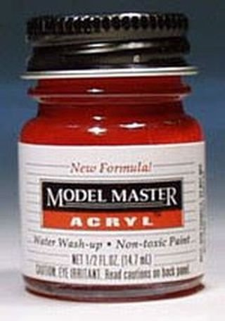 Clear Red Testors Acrylic Plastic Model Paint