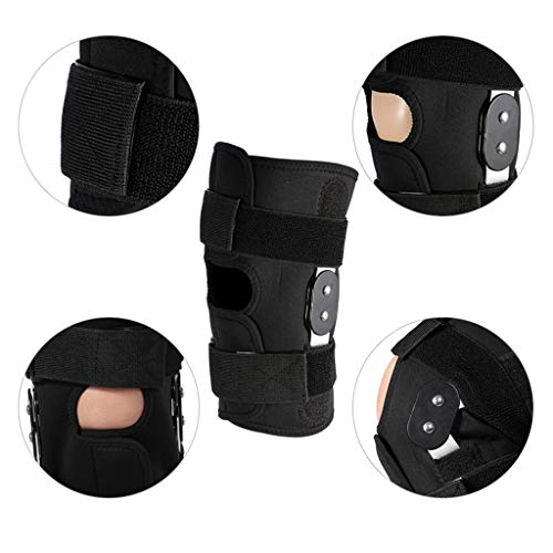 Knee Brace Support Joint Pain Relief Adjustable Strapping Sports Knee Pads Magic Belt Pressure Leg & Knee Joint Assist Support Brace (black, Large)