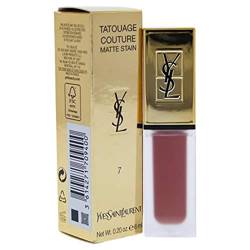 Yves Saint Laurent Tatouage Couture Liquid Matte Lip Stain, 7 Nu Interdit, 0.2 Ounce