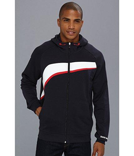 (Puma BMW Men's Hooded Sweat Jacket (XX-Large, BMW Team Blue))