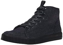 CK Jeans Men's Jenson Denim Suede Fashion Sneaker, Midnight Black, 13 M US