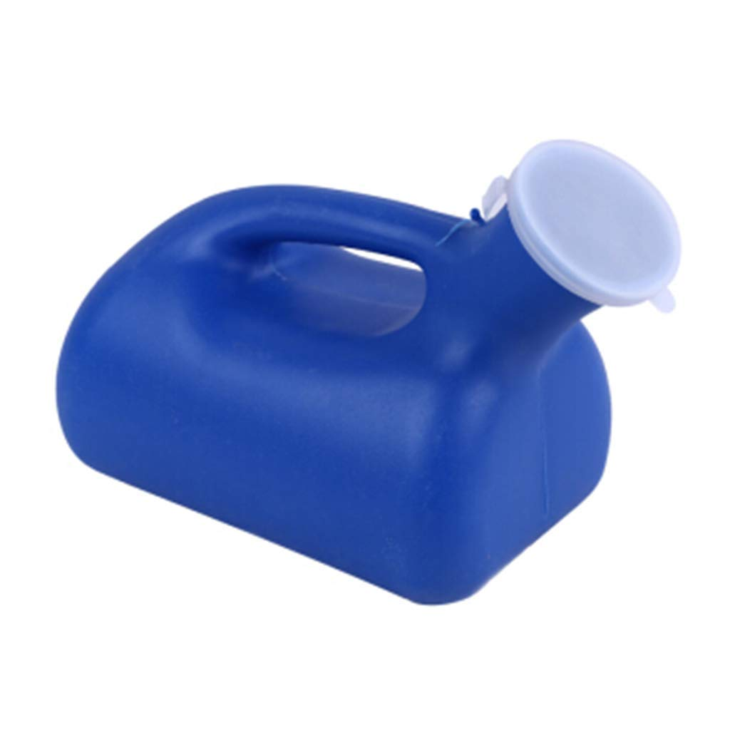 Male Urinal Portable Pee Bottle Toilet 2000 ML for Hospital Home Camping Car Travel,Urinal Male 2000ml Portable Urinal Bed Elderly Urine Household Child Chamber Pot Blue Urinal Car Traveling by Wpmlady