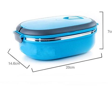 Amazon.com: Acero inoxidable Lunchbox monolayer Bento Boxes ...