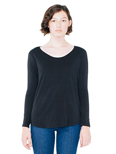 american-apparel-womens-long-sleeve-ultra-wash-tee-black-small