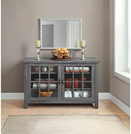 Better Homes and Gardens Oxford Square TV Stand and Console for TVs up to 55 Gray