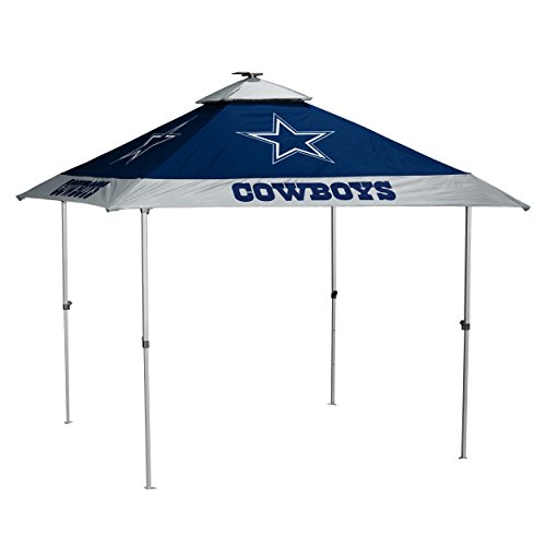 Logo Brands NFL Dallas Cowboys Pagoda Tent Pagoda Tent, Navy, One Size