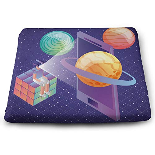 DOVLbath Rubik's Cube Memory Foam Seat Cushion Square Chair Cushion Pad Fits Car Chairs for Cushioning Comfort