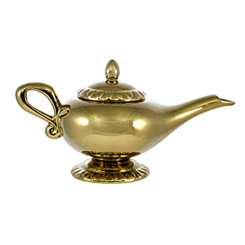 Disney Aladdin Figural Ceramic Genie Lamp Teapot (32oz) Gold - Light Figural