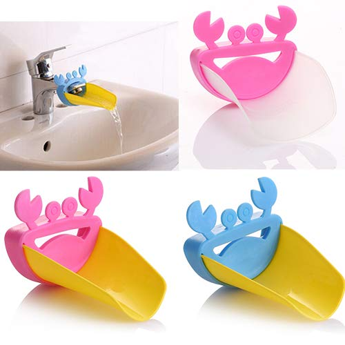 Infgreate Convenient and Practical Cute Bathroom Water Faucet Extender for Kid Hand Washing Child Gutter Sink Guide