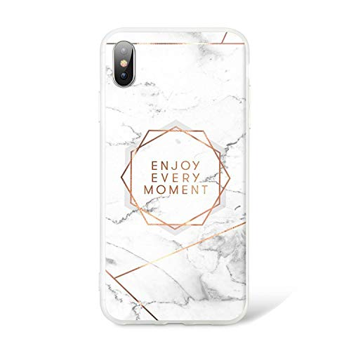 Marble Phone Case for iPhone 5 5s Se X XS Max XR Rose Pattened Soft Coque Case for iPhone 6 6S 7 8 Plus TPU Back Covers,4,for iPhone 6 6S(4.7) ()