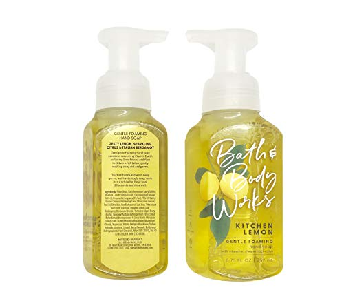 Bath and Body Works Gentle Foaming Hand Soap, Kitchen Lemon 8.75 Ounce  (2-Pack)