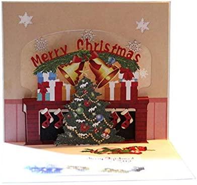 Bestoyard Tarjeta De Navidad 3d Pop Up Tarjetas De