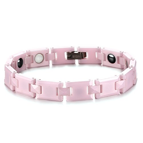 Brand New Lady's Pink Tungsten Carbide Magnetic Hematite Bracelet in a Gift Box, Anti-fatigue Pain-relief