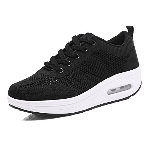 Shake Shoes Luxury Platform Fitness Shape Sneakers Ups Toning Walking Women's 2018 Black Shoe qnwqBtxSv