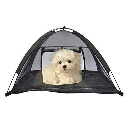 1Pcs Persuasive Modern Pet Tent House Dog Mesh Camping Cat Beach Shelter Kennel Portable Color (Cobra Cross Costume)