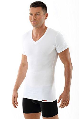 ALBERT KREUZ Herren Shapewear Unterhemd Shape Shirt Bauchweg Kompressions-Unterhemd weiß (06/L)