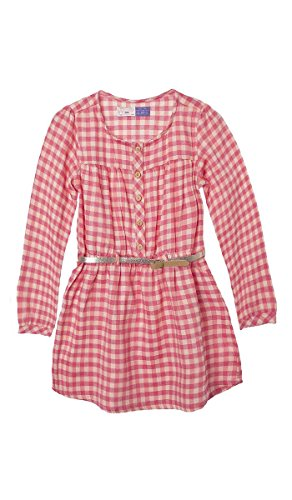 OFFCORSS Toddler Girl Beautiful Long Sleeve Hot Summer Fall Easter Casual Cotton Fresh Plain Dresses Vestido Casual de Nias Manga Larga Coral 18 M