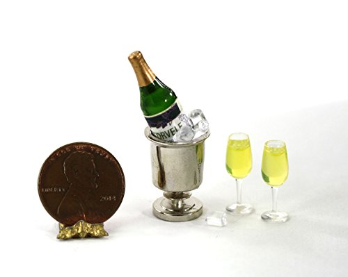1:12 Champagne on Ice Set (Miniature Champagne Bottles)