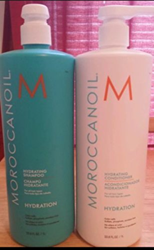Moroccanoil Hydrate Shampoo and Conditioner Liter Duo by Moroccanoil