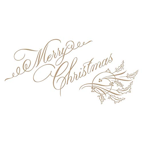 - Spellbinders GLP-067 Copperplate Merry Christmas Holiday 2018 by Paul Antonio Glimmer Hot Foil Plate, Metal
