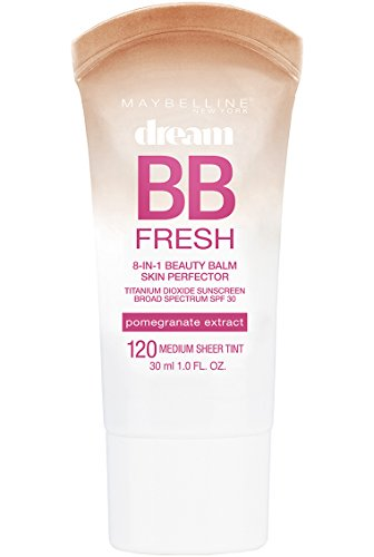 Maybelline New York Makeup Dream Fresh BB Cream, Medium Skintones, BB Cream Face Makeup, 1 fl oz (Ultra Bronzer Silicone)